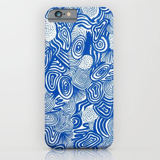 Blue Whirlpool iPhone & iPod Case
