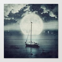 A Journey Under A Starry Night Sky Canvas Print