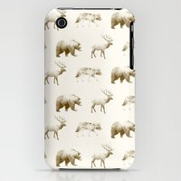 iPhone 3Gs & iPhone 3G Cases featuring Wild Pattern // Brown by Amy Hamilton