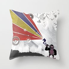 Audio Gorilla Throw Pillow