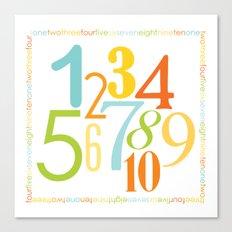Numbers Square - Sandbox colorway Canvas Print