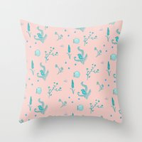 Design Based in Reality Pink Throw Pillow