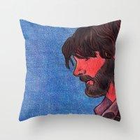 John Bell- Close Up Throw Pillow