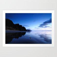 Oregon Beach at Sunset Art Print