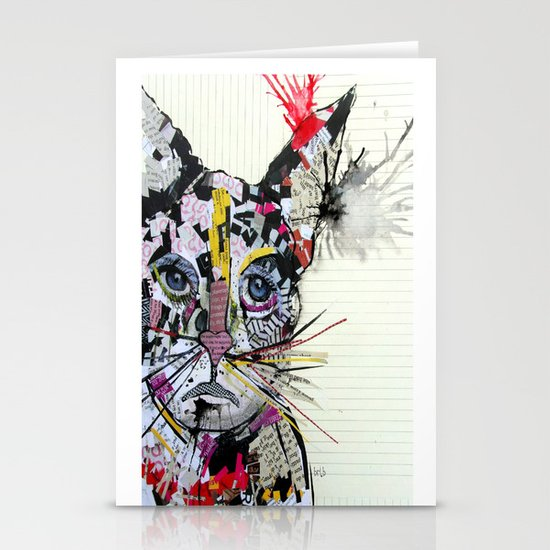urban kitten Stationery Card