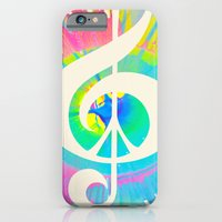 iPhone & iPod Case featuring Tie Dye Music & Peace by Inspireuart