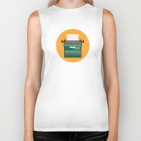 Typewriter Icon Biker Tank