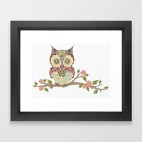 OWL -  kids wall art - owl theme nursery - woodland Framed Art Print