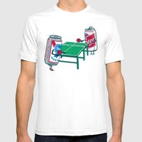 Beer Pong Mens Fitted Tee White SMALL