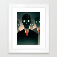 Microchip Mind Control Framed Art Print