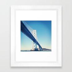 south side, bay bridge Framed Art Print