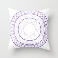 Anime Magic Circle Throw Pillow