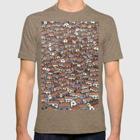 Little Houses Mens Fitted Tee Tri-Coffee SMALL
