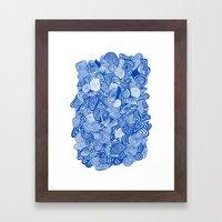 Blue Whirlpool Framed Art Print