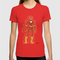 The Flash Womens Fitted Tee Red SMALL