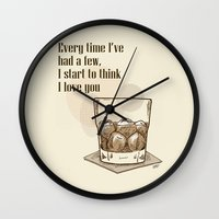 Scotch Love By RonkyTonk Wall Clock