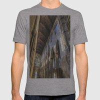 Rochester Cathedral Art Mens Fitted Tee Athletic Grey SMALL