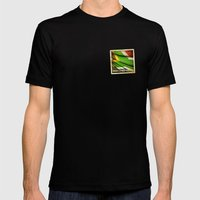 South Africa Grunge Stic… Mens Fitted Tee Black SMALL