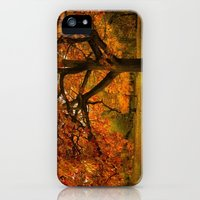 iPhone Cases featuring Red Oak Tree  by LudaNayvelt