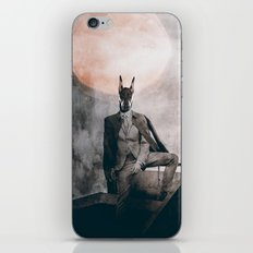 Watchdog in the moonlight iPhone & iPod Skin