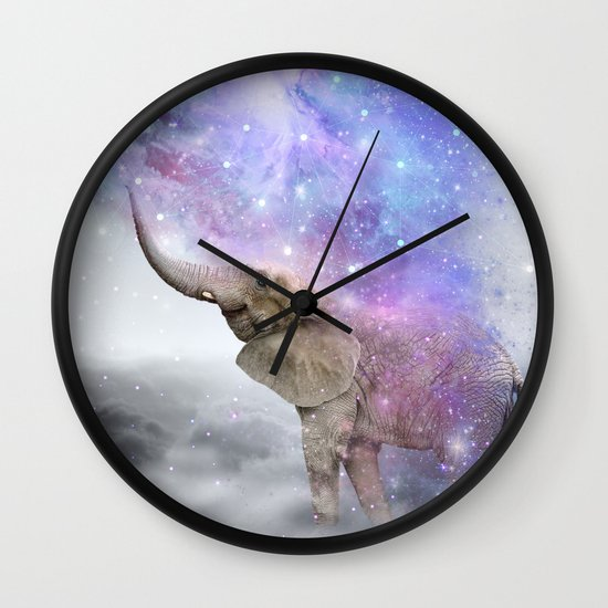 Don't Be Afraid To Dream Big • (Elephant-Size Dreams) Wall Clock