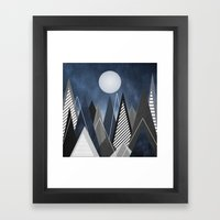 Midnight Mountains Framed Art Print