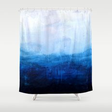 All good things are wild and free - Ocean Ombre Painting Shower Curtain
