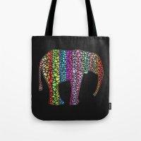 Coloured Elephant Tote Bag