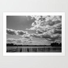 Buckeye Lake B&W Art Print