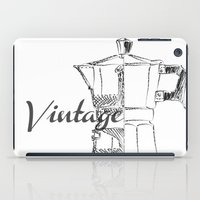 Coffee pot blueprint sketch  iPad Case
