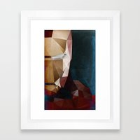Iron Man Profile Framed Art Print