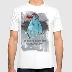 if you go down the woods today... / A Grizzly Alien Mens Fitted Tee SMALL White