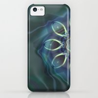 iPhone 5c Cases featuring Blue Tone Fractal by Charma Rose