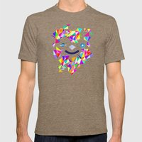 Chromatic Character  Mens Fitted Tee Tri-Coffee SMALL