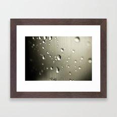 Rain Drops Keep Falling Framed Art Print