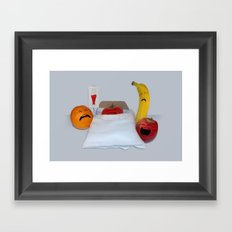 I'm Sorry He's A Vegetable Framed Art Print