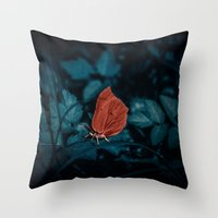 Red In The Dark Throw Pillow
