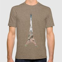 Under The Paris Sun - Pa… Mens Fitted Tee Tri-Coffee SMALL