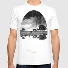 what is reflection? White Mens Fitted Tee SMALL