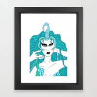 Scorpio / 12 Signs of the Zodiac Framed Art Print