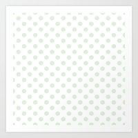 Green Spotty Pattern  Art Print