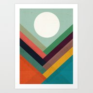Art Print featuring Rows Of Valleys by Budi Kwan
