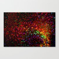 Fascination in gold-photograph of colorful lights Canvas Print