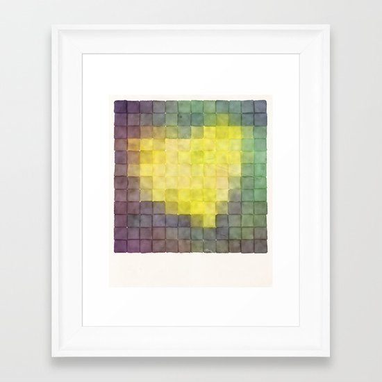 Polaroid Pixels V (Leaf heart) Framed Art Print