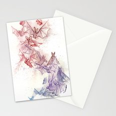 Flight of Bats Stationery Cards