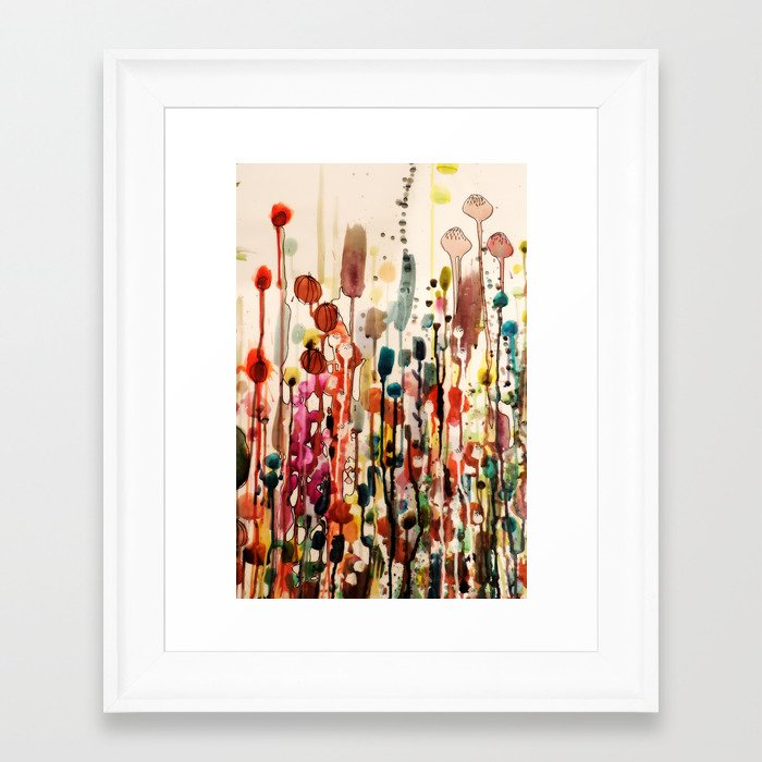 ouvrir une fenetre framed art print by sylvie demers