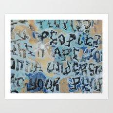 sf graffiti Art Print