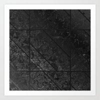 Black Marble Texture G310 Art Print