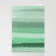 Stripey Mint Stationery Cards