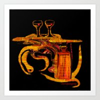 Cocktails For Two Art Print